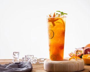 鲜橙水果茶