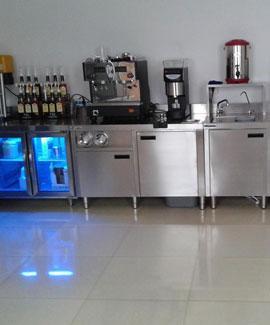 咖啡厅不锈钢吧台
